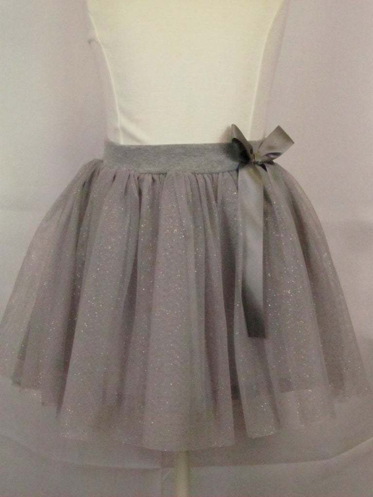 Mae Li Rose Sparkle Skirt Gray