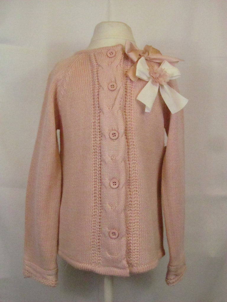 Mae Li Rose Rosy Bow Cardigan