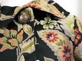 Persnickety Black Floral Coat