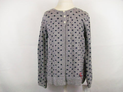Kanz Gray navy dots Cardigan
