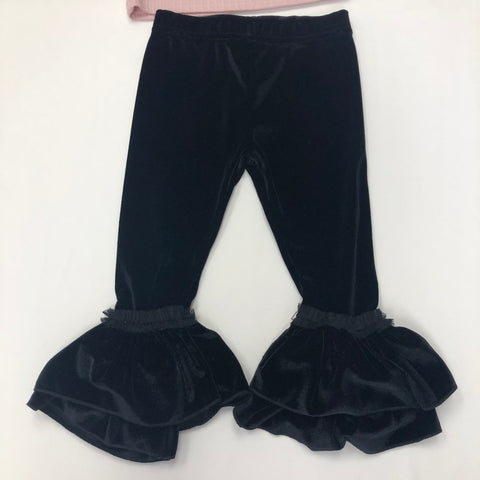 Calla Lily Full Length Ruffled Leggings