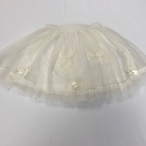 Mae Li Rose Cream Tulle Skirt