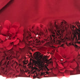 Biscotti Red Ruffles & Roses L/S Knit Dress