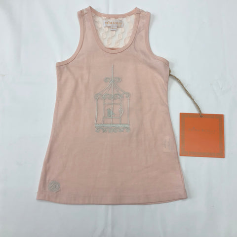Trish Scully Child Blush pink birdcage tank top