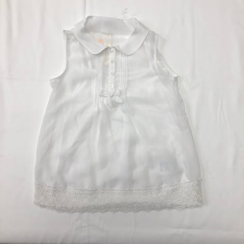 d8a057e4183621 Mayoral crepe sleeveless blouse with bow