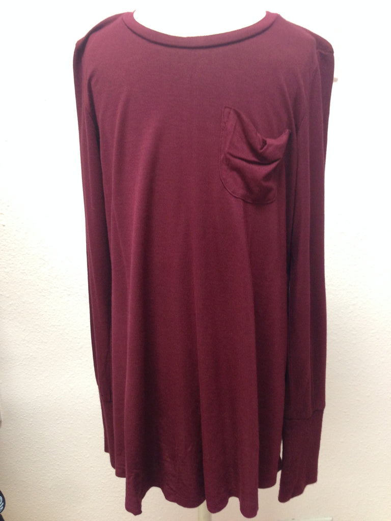 Ragdoll & Rockets Burgundy Long sleeve tunic