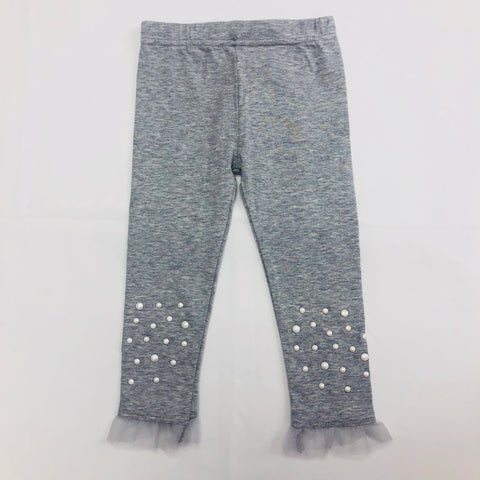 Calla Lily Pearl Bead Leggings