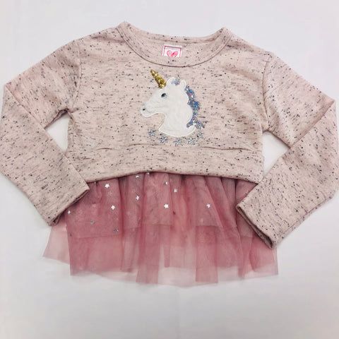 Calla Lily Unicorn Embroidery Sweater