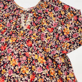 Mimi & Maggie Mountain Flowers Collection Nature Girl Dress in Burgundy