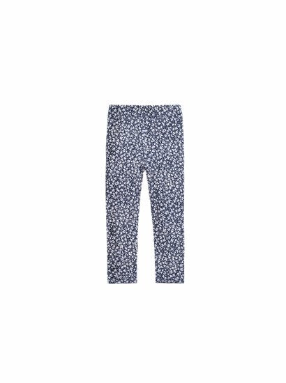 Imoga Alyssa Blue/White Flower Print Stretch Leggings