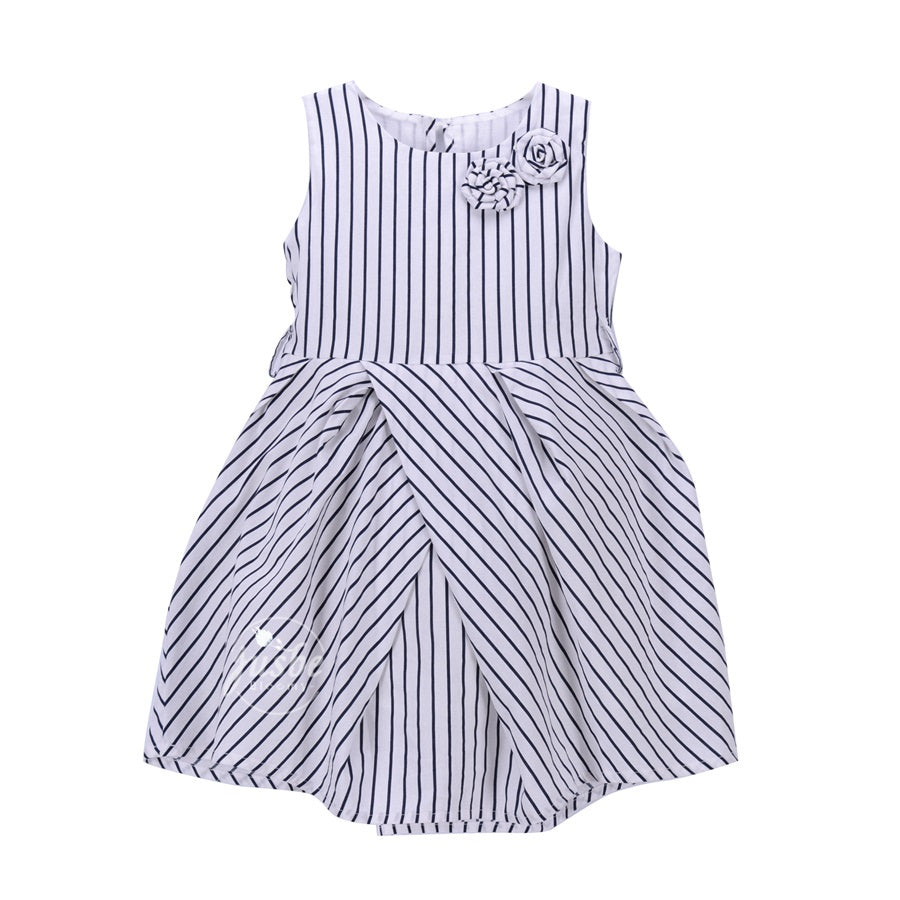 Jusbe Kids Stripes Dress Navy