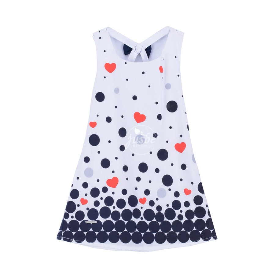 Jusbe Kids Dots printing Dress White
