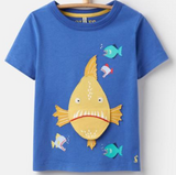 Joules Clothing Chompers Applique Piranha Boys Shirt