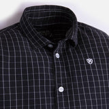 Mayoral Boys Black Checkered L/S Collared Shirt