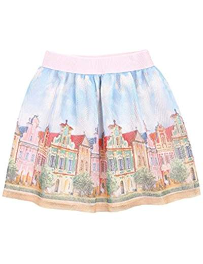Mayoral Peach Landscape Skirt