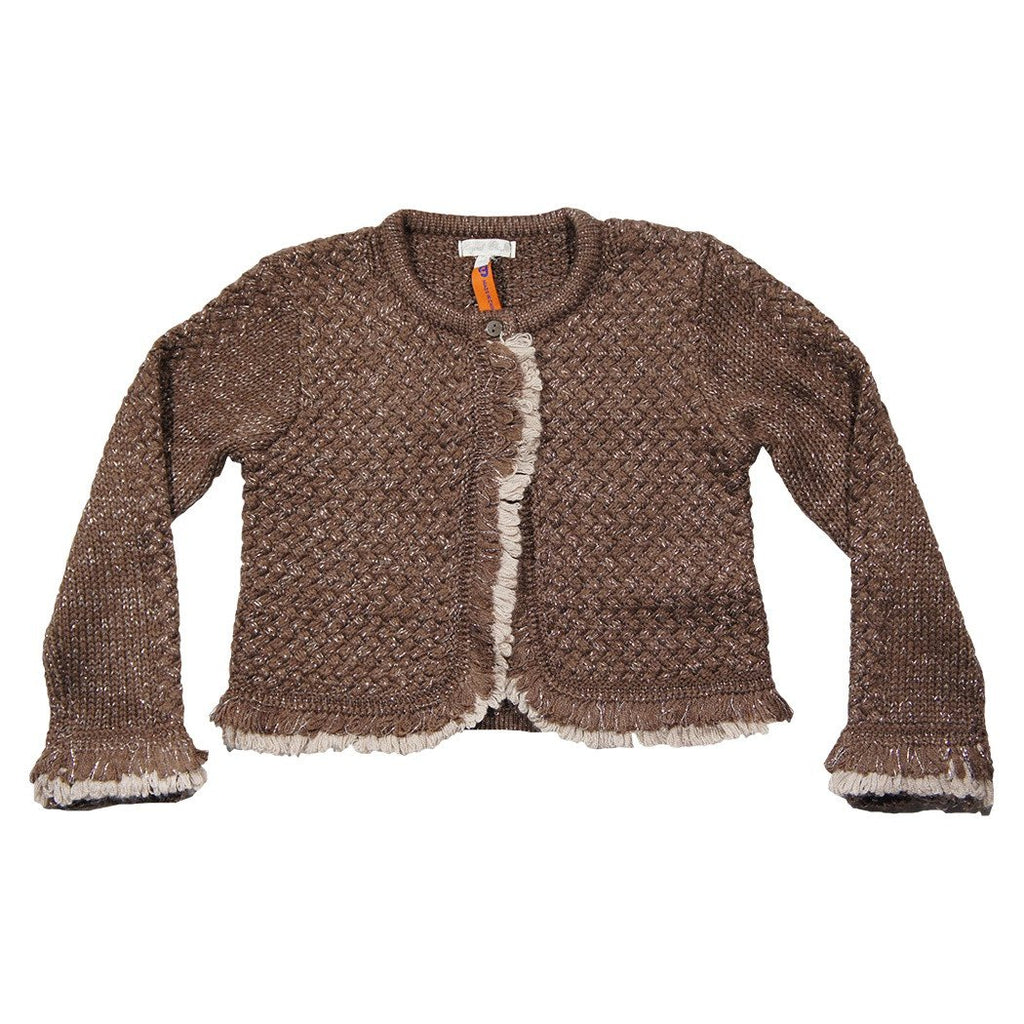 Mayoral Girls Mocha Knit L/S  Cardigan