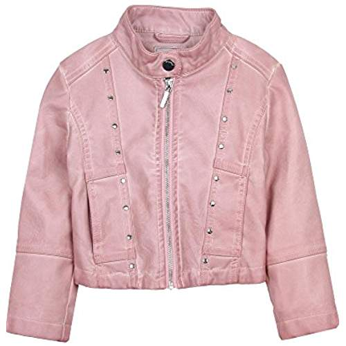 Mayoral Pink Pleather Jacket w/ Studs