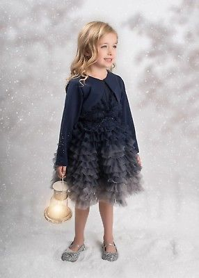 Isobella and Chloe Adora Belle 2pc Navy Dress