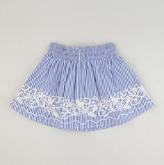 Trish Scully Child Toddler Regatta Embroidered Skirt