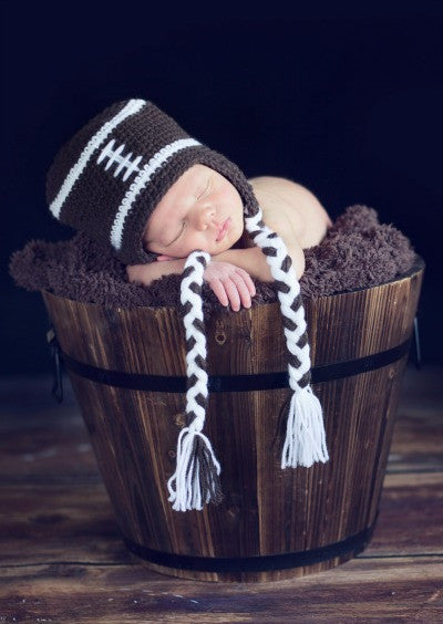 The Daisy Baby Peyton Brown Football Hat