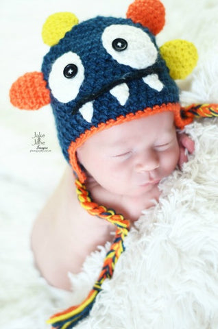 The Daisy Baby Rowdy Navy Blue Monster Hat
