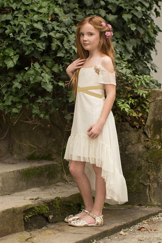 Joyfolie Delphine dress in cream