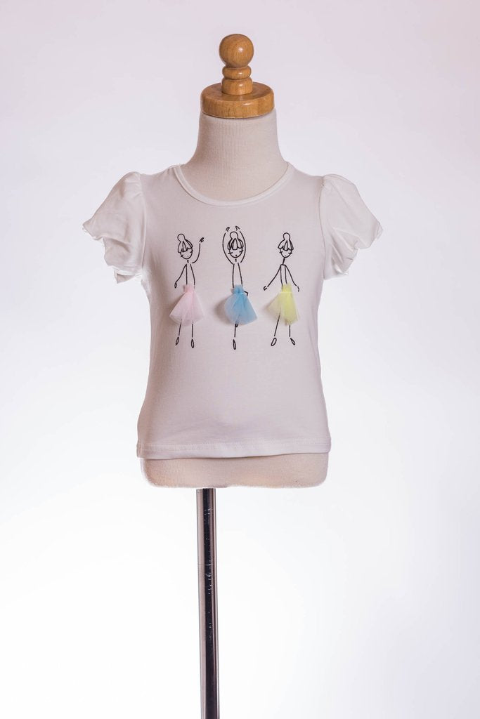 ML Kids 3 Ballerinas with detail Tee