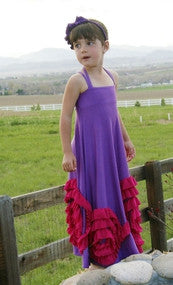 Pixie Girl Full Bloom Maxi Purple/Fushia