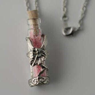 Enchanted Fairy Dust Necklace- Pink