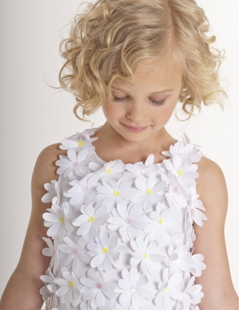Biscotti White Ballerina dress with Flowers
