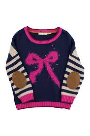 Deu par Deux Navy bow sweater