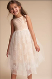 Mae li rose soft blush pearl waistine dress