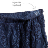 MAYORAL  Navy Blue Lace Skirt