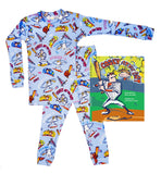 Books to Bed Set Blue Long Sleeve Pajamas- Casey At Bat