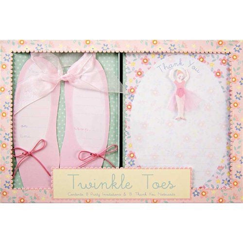 Meri Meri Twinkle Toes Party Invitation and Thank you Notecards