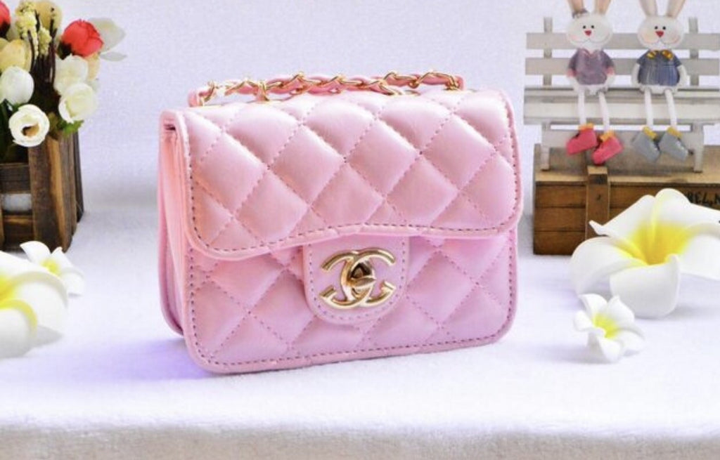 Quilted Chanel Girls purse