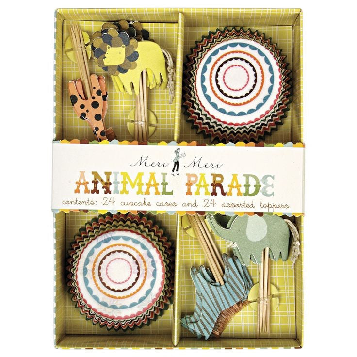 Meri Meri Animal Parade Cupcake Kit