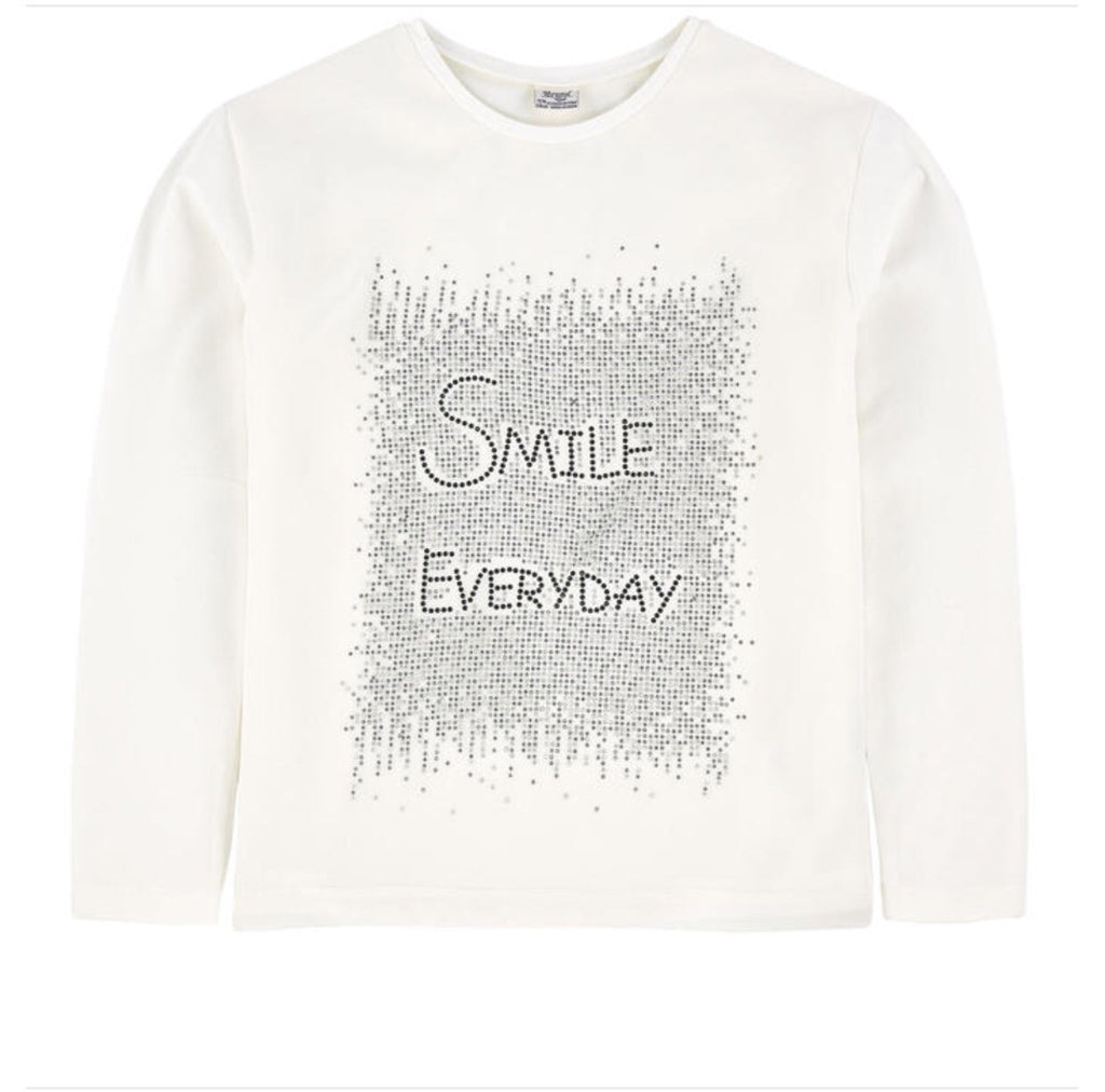 Mayoral cream color smile long/s shirt