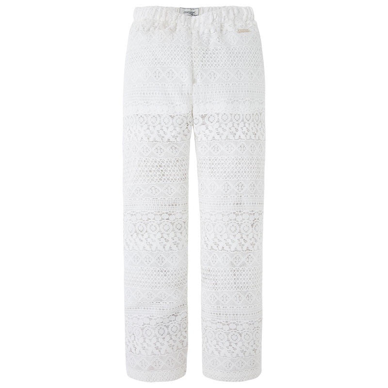 Mayoral White Lace Pants