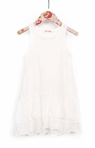 Mae li rose cream ruffled tank top