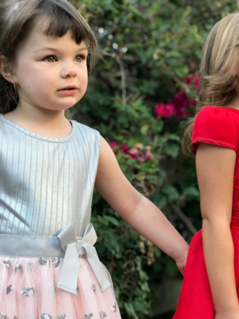 Jusbe Kid Hearts Sequin dress