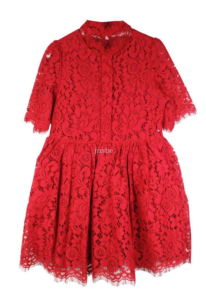 Jusbe red lace dress