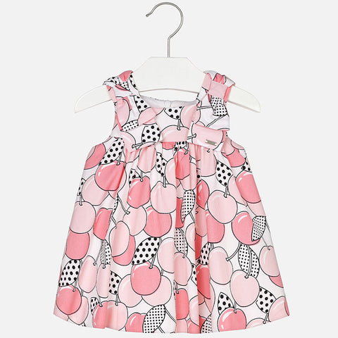 "Mayoral ""Cherry"" Patterned dress for baby girl"