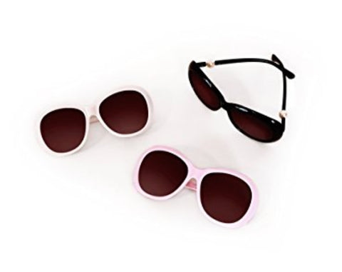 Mae Li Rose Pearl Oversized Round Kids Polarized Sunglasses for Girls