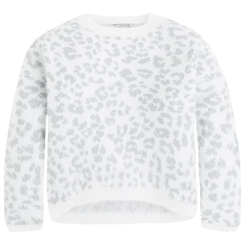 Mayoral Pearl Leopard Knit Sweater