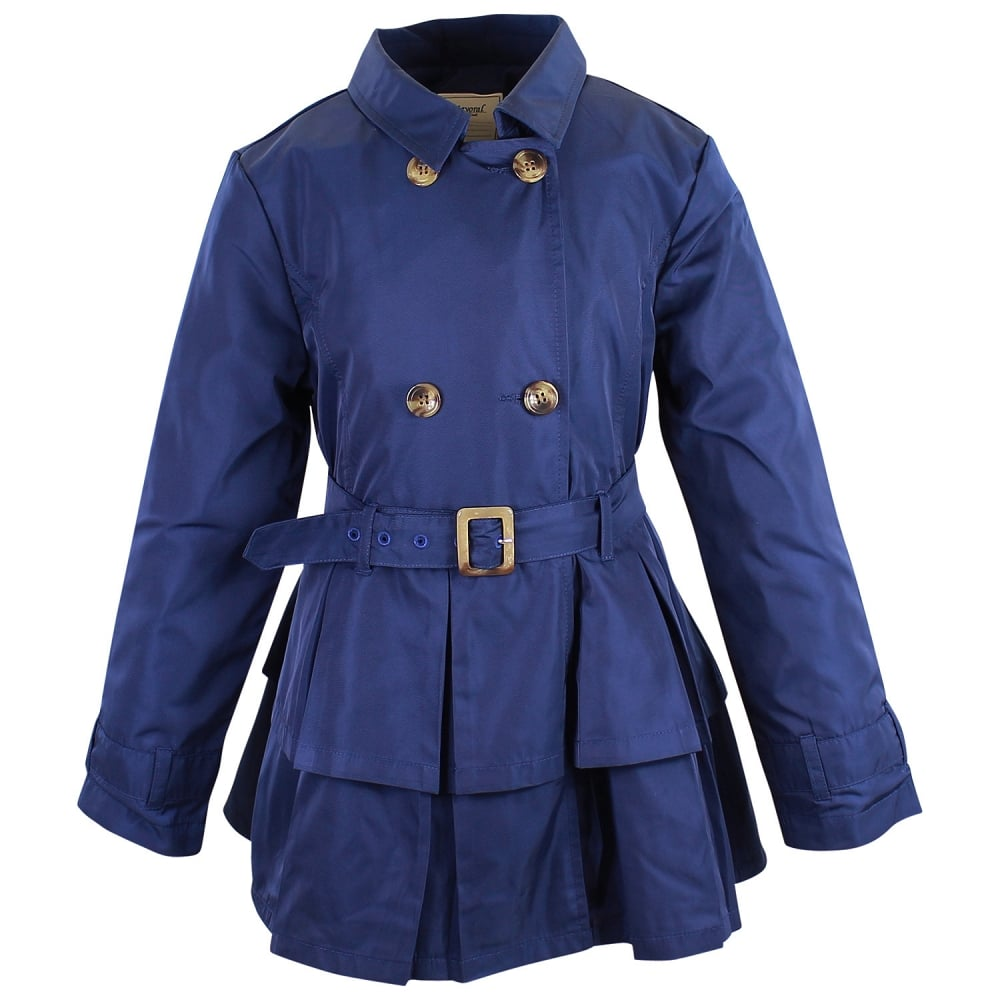Mayoral Girls Navy Blue Belted Raincoat
