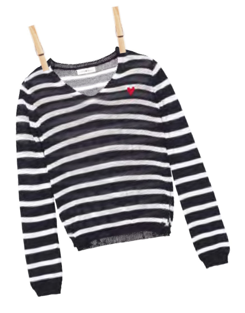 Mini Molly Girl Knitted Stripe Sweater