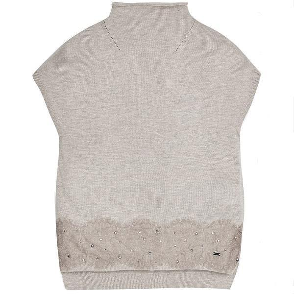 Mayoral Knit High Neck Vest
