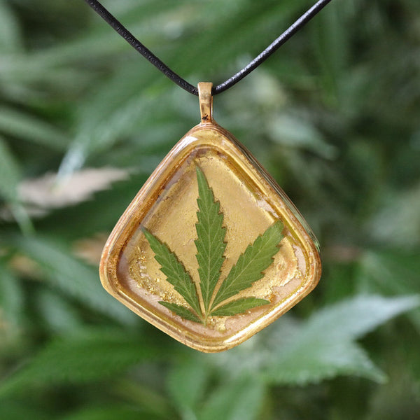 Cookies Cannabis Leaf Pendant