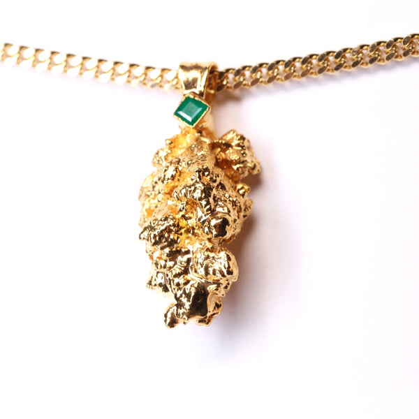 Gold Cannabis Nug with Emerald